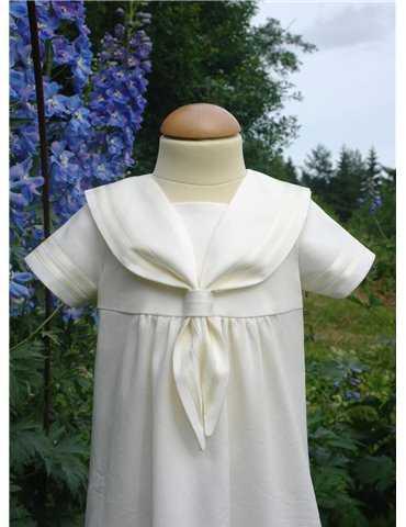 Vakker dåpskjole i off white blonder