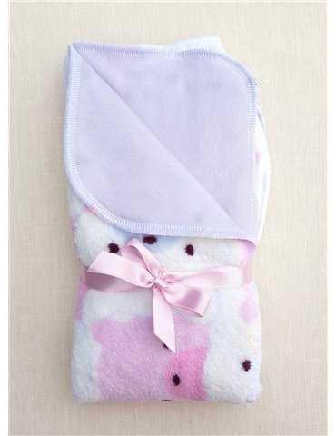 Dopklänning med spetskappa och ballerinaskor