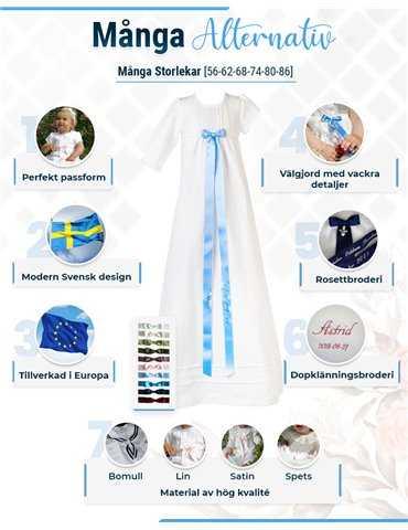 dåpsklær for gutter i silke
