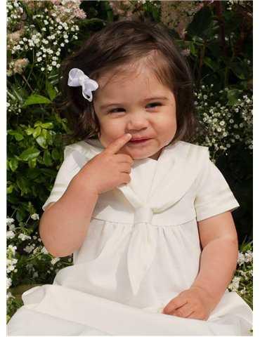 Dåpskjole med blått dåpsband