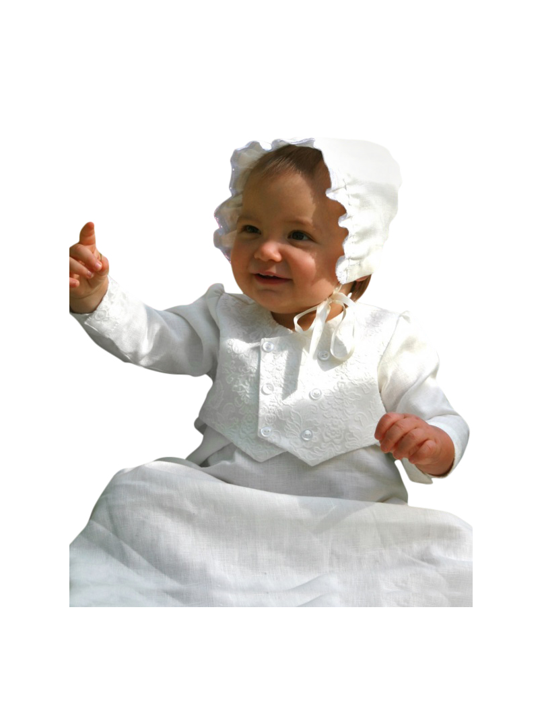 hvit dåpskjole med vest