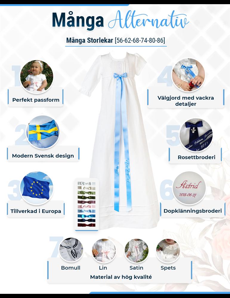 Dåpskjole fra grace of sweden