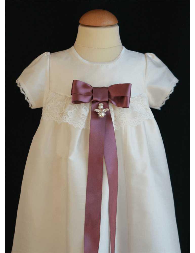 Dopklänning blå rosett för pojkar
