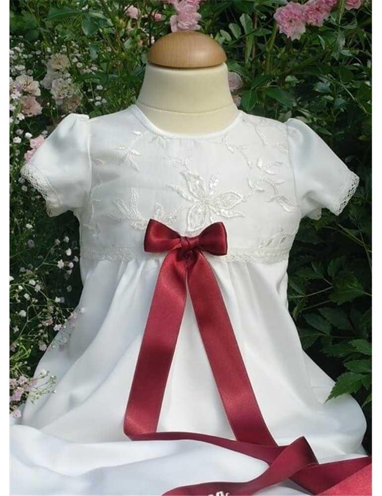 Dopklännin i vitt blankt tyg