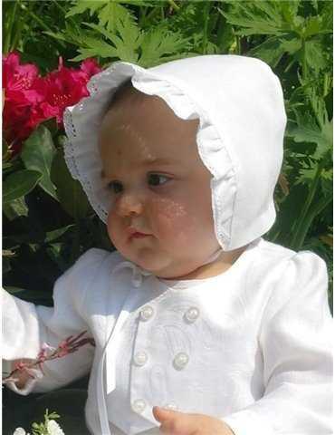 linne dåpskjole for jenter og gutter