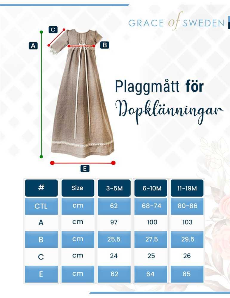 sötaste ungen i sin Dopklänning