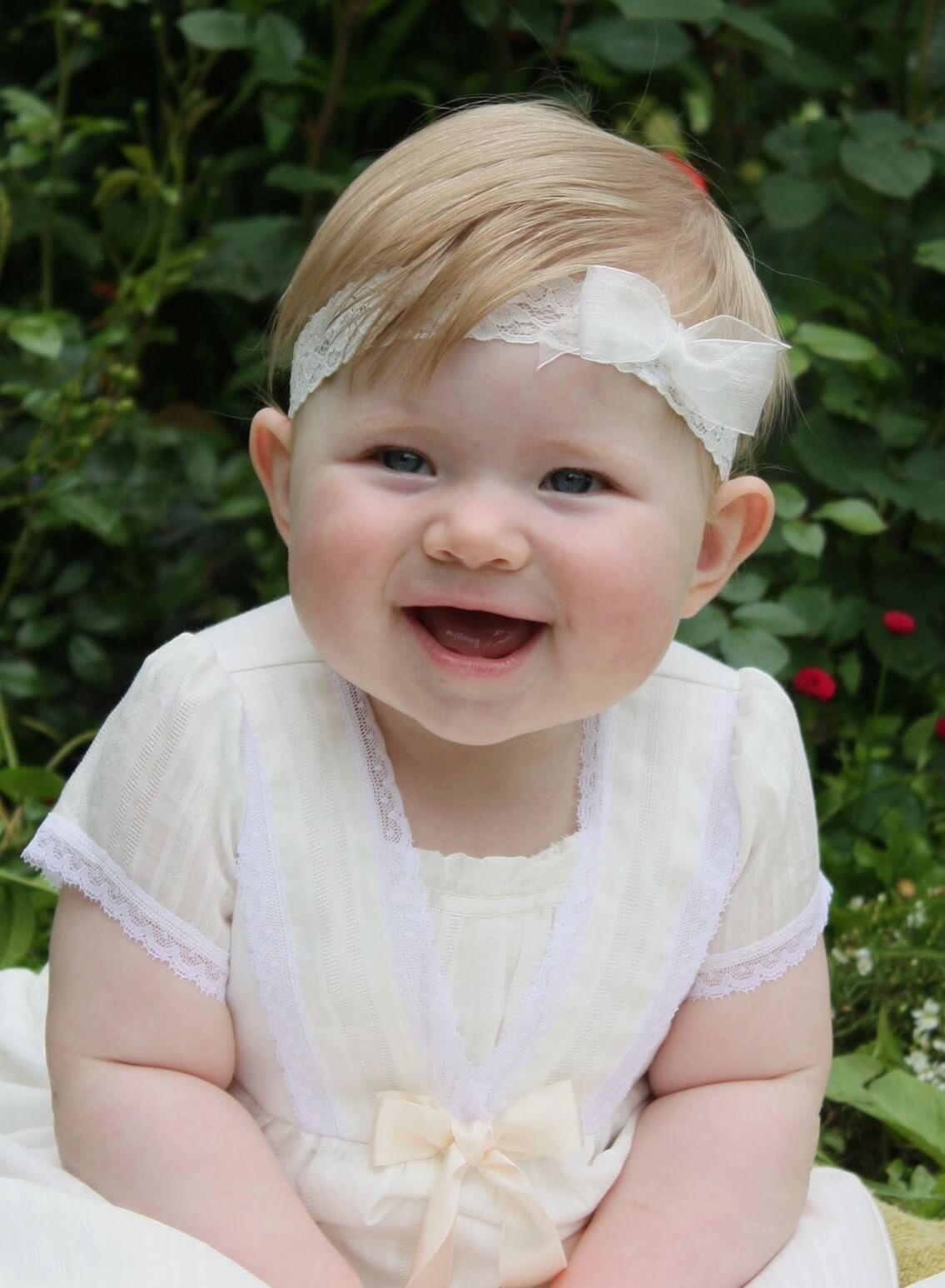Blonde diadem med rosett