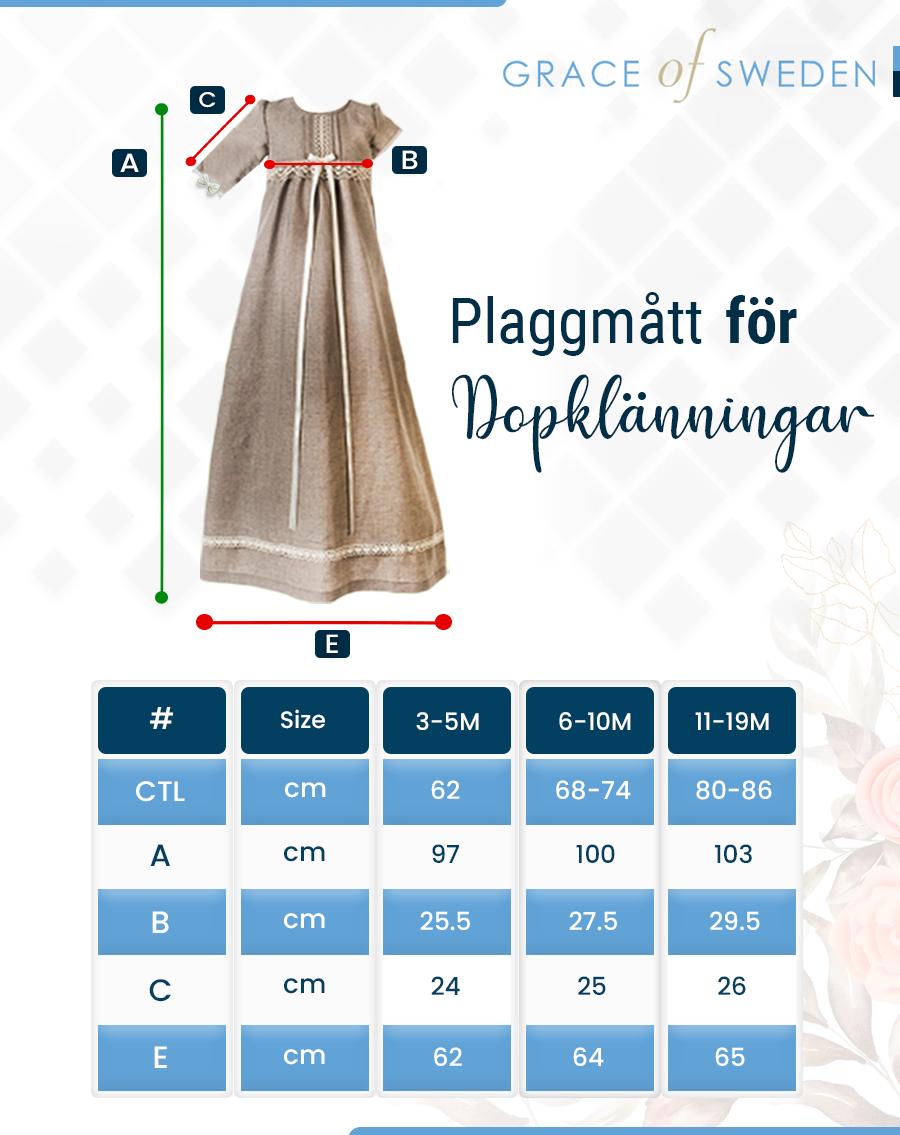 Koselig teddybjørn med søtt broderi