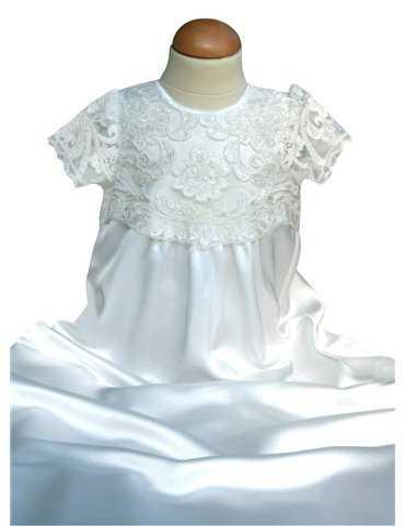 Dopklänning med lila dopbroderi