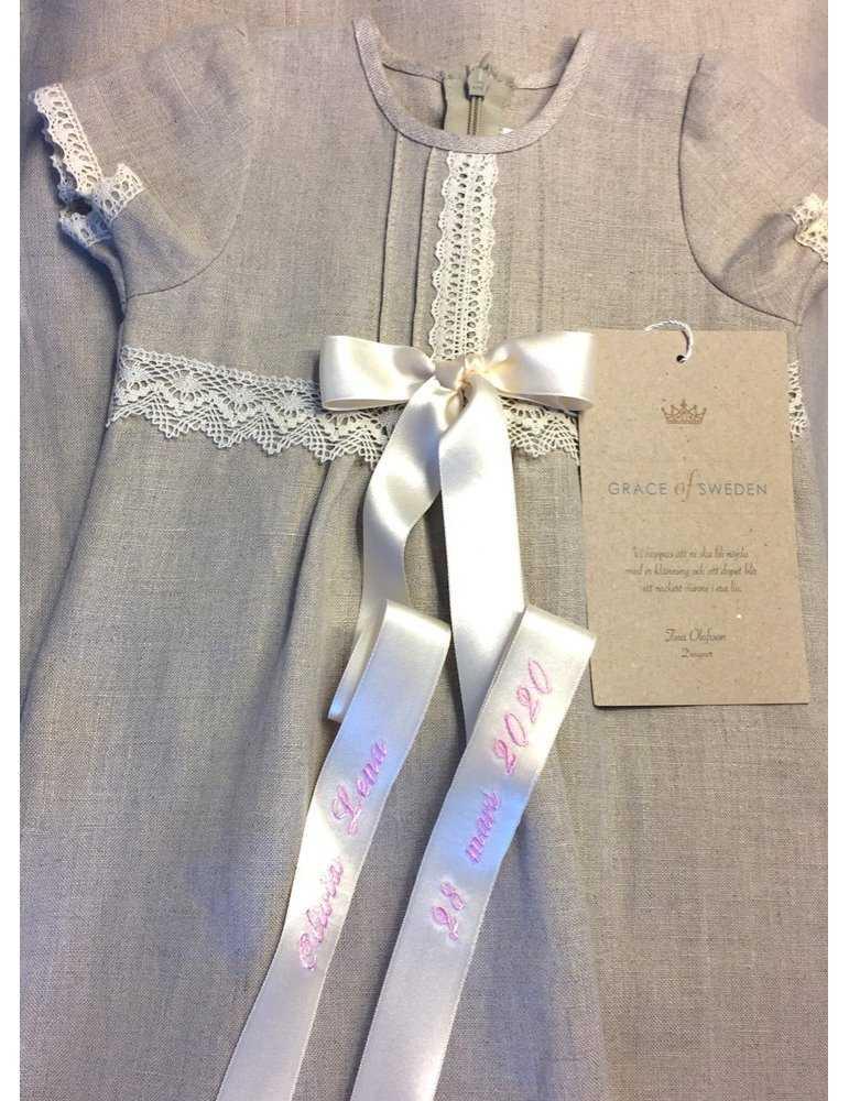 Massivt silverhjärta med rosa sten